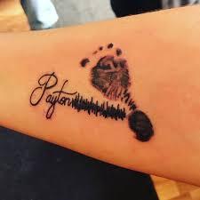 baby footprint tattoos popsugar