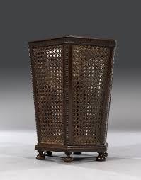 waste paper baskets edwardian 20th century octagonal mahogany u0026 caned waste paper