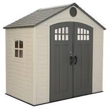 outdoor storage shed 8 u0027 x 5 u0027 desert sand lifetime target