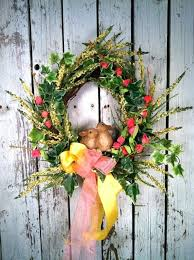 easter wreaths shabby chic wreath easter wreaths for front door uk