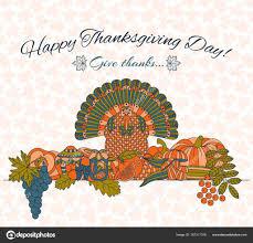 tarjeta de felicitación día de acción de gracias distintos