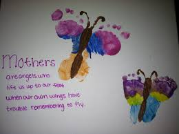 mother u0027s day footprint butterfly canvas gifts pinterest