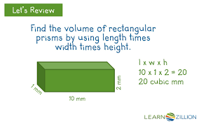solve real world problems involving the volume of rectangular
