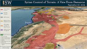 Syria On A Map by Isw Blog September 2015