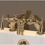 Clawfoot Tub Faucet With Diverter Bathtub Rim Deck Mounted Faucets Classic Clawfoot Tub
