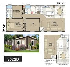 Triple Wide Manufactured Home Floor Plans Cm3522d 2 Bed 2 Bath 1 296 Sqft Affordable Home For 67 900
