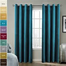 Turquoise Velvet Curtains Velvet Drapes Amazon Com