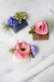 hair flower diy modern floral hair comb design sponge