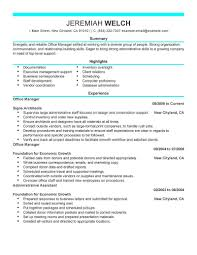 modern resume exles for executives best office manager resume exle livecareer