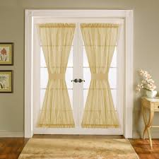 interesting white glass french door window treatments with cream