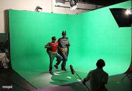 green screen or any color screen with production and studio space