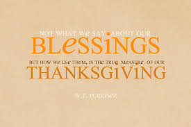 w t purkiser thanksgiving blessings quote