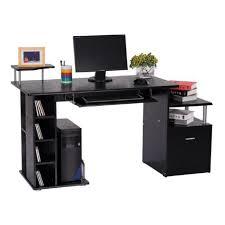 meuble pour ordinateur de bureau bureau pour ordinateur table meuble pc informatique en mdf noir 13