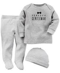 gentleman 39 s carter s baby boys 3 piece gentleman shirt hat footed pants