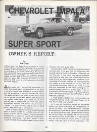 vintage review 1966 chevrolet impala super sport u2013 road test