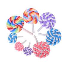 new on sale 2pcs resin lollipop garden decoration ornaments mini