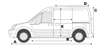 Vauxhall Combo Interior Dimensions Ford Transit Connect L Load Length Showing Gallery For Ford
