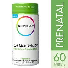 rainbow light prenatal one vitamins amazon com rainbow light 35 mom baby pre postnatal food