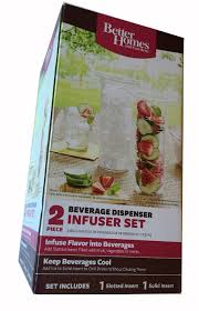 amazon com better homes and gardens 2 piece beverage dispenser