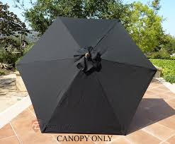 Replacement Patio Umbrella Patio Umbrella Replacement Cover Canopy 6 Ribs Black