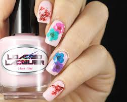 copycat claws real dried flower nail art