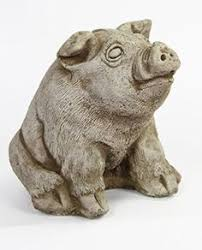 half digging pig garden statue tacky yard decor