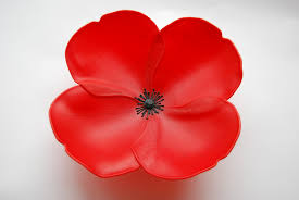 auction glass poppy for royal british legion art in action