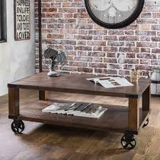 factory cart coffee table glass top ideas