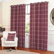 Pink Tartan Curtains Lounge Curtains Collection On Ebay