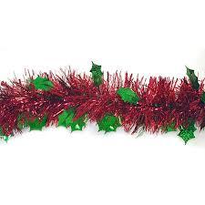 christmas tinsel 12 shiny christmas tinsel garland with green holographic
