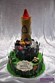 ben and holly birthday cake tower birthday cakes