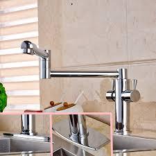 levier cuisine poli chrome mesure bec cuisine robinet vanity évier mitigeur