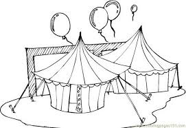 circus tents coloring free circus animals coloring pages