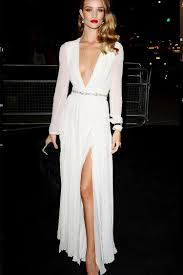 white dresses rosie huntington whiteley white sleeve formal evening dress