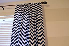 Hemming Tape Curtains Away She Went Navy White Chevron Curtains
