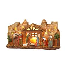 Outdoor Lit Nativity Scene by Lightshow 8 Light Shooting Star Cliplights 11 In 9 In 7 In