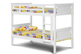 Billy White Solid Wooden Kids Bunk Bed Two Ft Singles Crazy - Single bunk beds