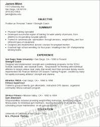 personal trainer resume objective 10 athletic resumes self introduce