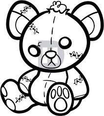 how to draw a stitched teddy bear teddy bear tattoo step by step
