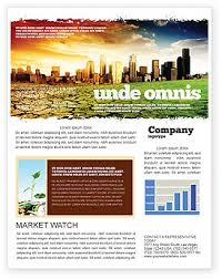 bad ecology city newsletter template for microsoft word u0026 adobe