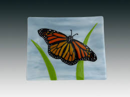 butterfly platter pezzulich glassworks just for