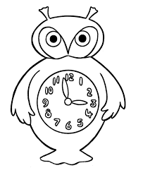 clock face coloring page getcoloringpages com