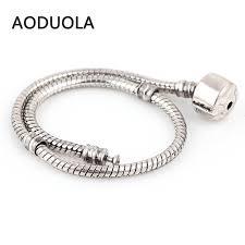 s day charm bracelet diy bracelets vintage silver snake chain chamilia aoduola charm