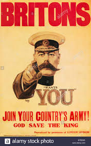 the 1914 british wartime recruitment poster depicting lord