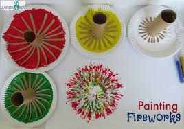 new paint painting fireworks learning 4 kids