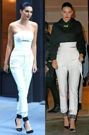 all white jumpsuits kendall jenner is a glam goddess in all white during york
