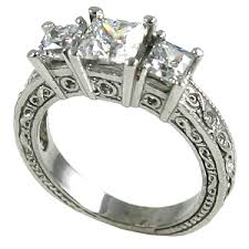 White Gold Cz Wedding Rings by White Gold Cubic Zirconia Rings Cubic Zirconia Rings