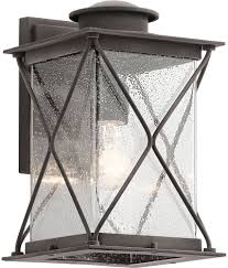 Kichler Outdoor Led Lighting by Kichler 49744wzcl16 Argyle Weathered Zinc Led Outdoor Wall Sconce