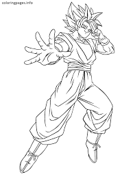 imagenes de goku para dibujar faciles con color goku super saiyan 1 coloring pages coloring pages pinterest