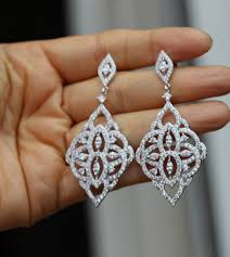bridal chandelier earrings silver bridal earring bridal jewelry chandelier earring